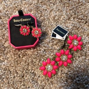 Juicy couture earring and bracelet set